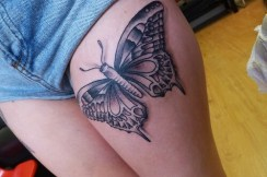 Thigh butterfly tattoo designs 7