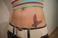Belly butterfly tattoo designs 12