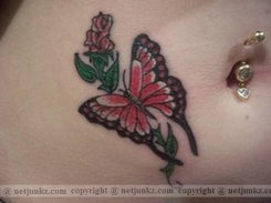 Belly butterfly tattoo designs 7