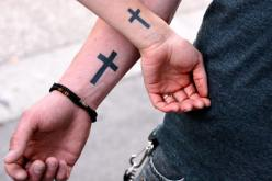 wrist tatoo 2 crosses