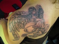 Amazing Shoulder Angel Tattoos for Women http://www.tattooswomen.com/amazing-shoulder-angel-tattoos-for-women/