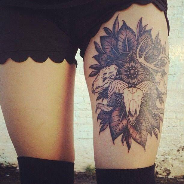 Tattoo designs for female thigh