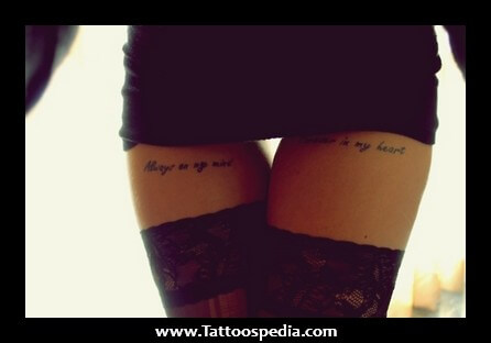 Tattoo designs for female thigh http://tattoo--s.blogspot.com/2015/02/thigh-tattoo-words.html