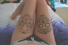 Skull tattoos for women is also a very gorgeous design. You can choose a simple yet stunning outline of a skull designed with a monochrome pattern or you can go all out and get a colorful and vibrant skull tattooed on your thigh. http://fmag.com/over-60-sexy-tattoos-for-women-with-meanings/