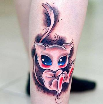 Cute Mew pokemon tattoo