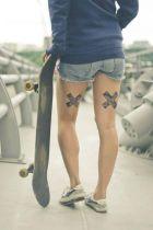X Back thigh tattoos https://pl.pinterest.com/pin/468515167461212503/