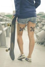 X Back thigh tattoos https://pl.pinterest.com/pin/468515167461212503/