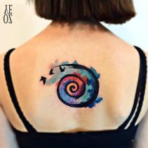 Abstract watercolor tattoo Instagram / yelizozcan_tattooart http://stayglam.com/life/51-watercolor-tattoo-ideas-for-women/2/