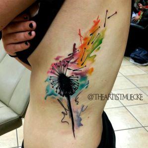 Awesome watercolor dandelion. https://pl.pinterest.com/pin/424534702353794529/