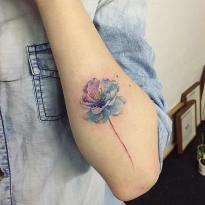 Cute cherry blossom Instagram / ilwolhongdam http://stayglam.com/life/51-watercolor-tattoo-ideas-for-women/