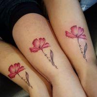 Cute flower tattoo for 3 sisters https://pl.pinterest.com/pin/492229434254738503/