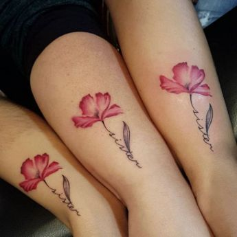 Cute flower tattoo for 3 sisters https://pl.pinterest.com/pin/492229434254738503/