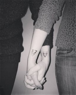 My Sister My Friend Sibling Tattoo two triangles https://pl.pinterest.com/pin/656399714409546150/
