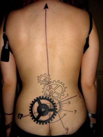 Unique lower back time tattoo https://www.inkdoneright.com/lower-back-tattoos/