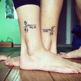 big sis and lil sis tattoo (Instagram / jabilyn) http://stayglam.com/life/sister-tattoos/