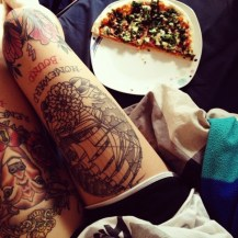 Full leg covered with tattoos http://tattooton.com/100-sexy-thigh-tattoos-for-women-in-2016/
