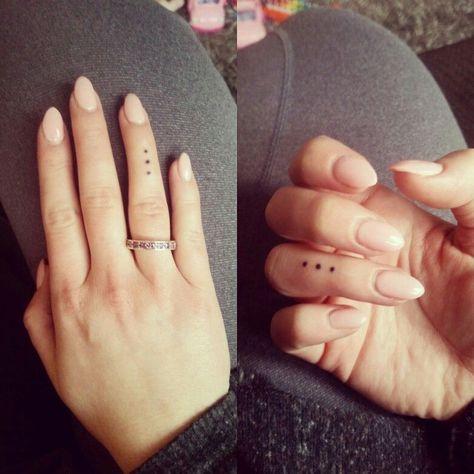 Finger dots tattoo for women