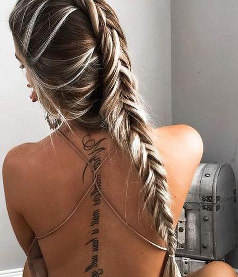 Amazing women spine tattoo