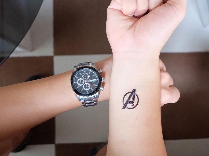Small ideas tattoo for big Avengers nerds