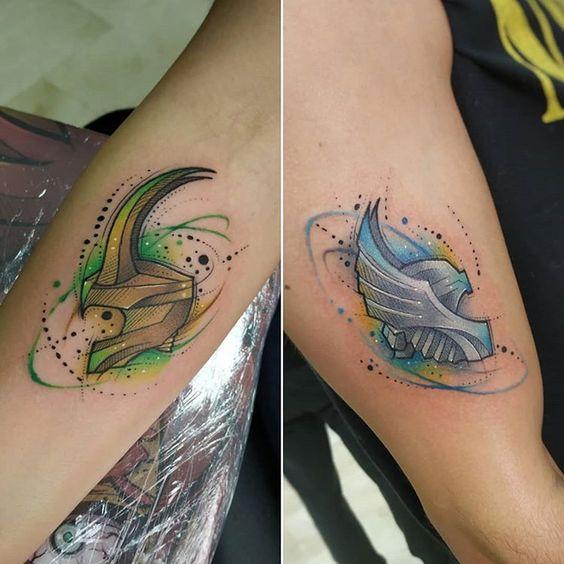Thor and Loki fans tattoo designs