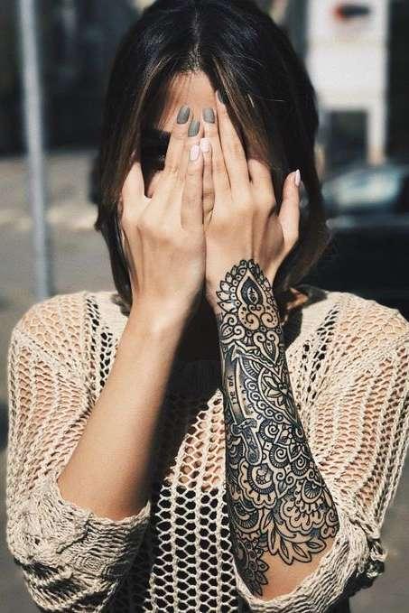 Mandala on women wrist tattoo