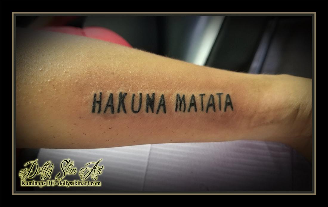 Hakuna matata arm tattoo design