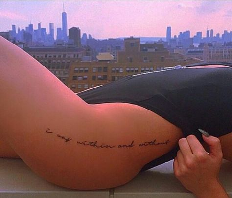 Hidden tattoos small hip quotes