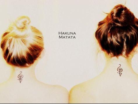 My best friend best friends hakuna Matata tattoo
