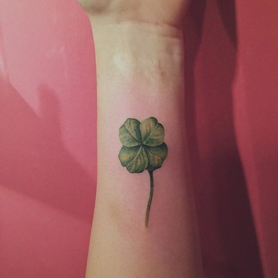 Some clover tattoo on wrist