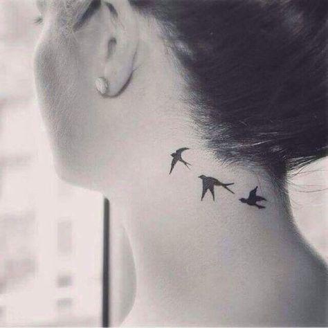 Swallow neck tattoo for women design