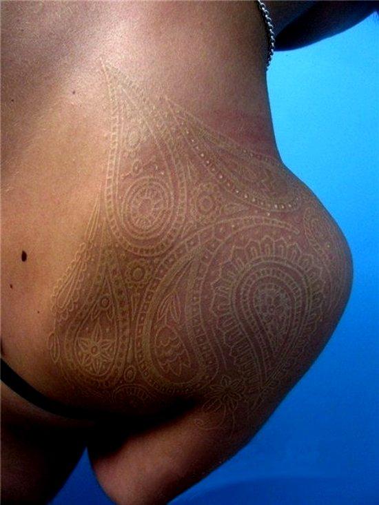 Amazing tattoo work with white ink