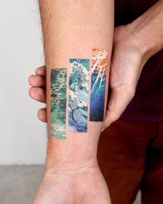 Stunning tattoo work in frame