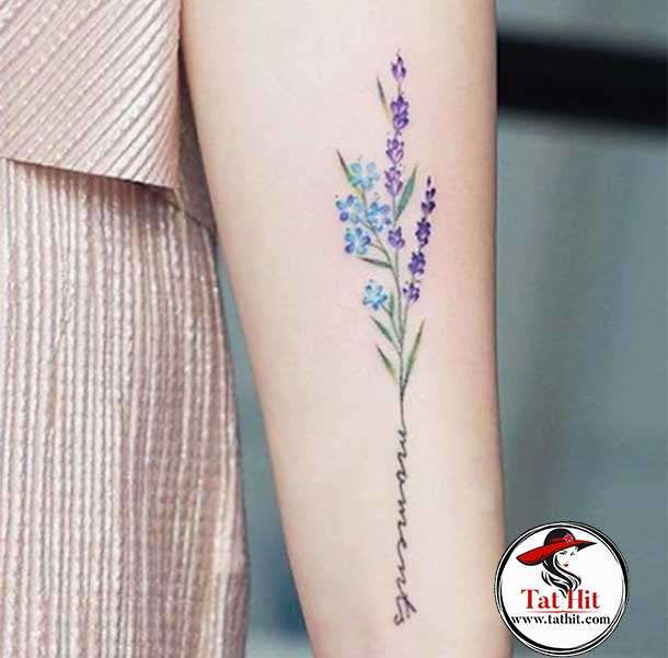 Two color lavender tattoo