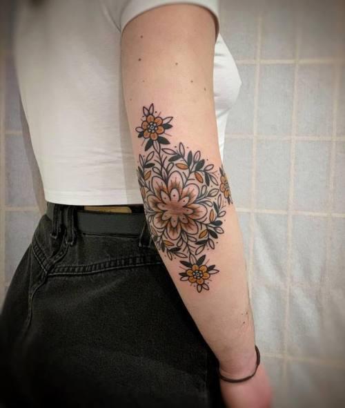 Elbow tattoos or women
