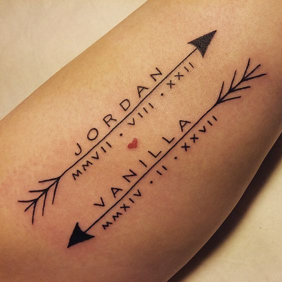 Name and date tattoos
