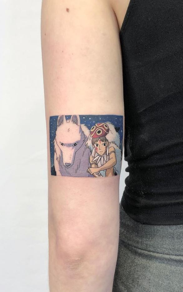 Princess Mononoke tattoo