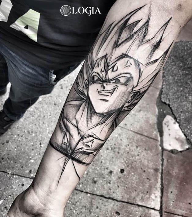 Vegeta Dragon Ball tattoo