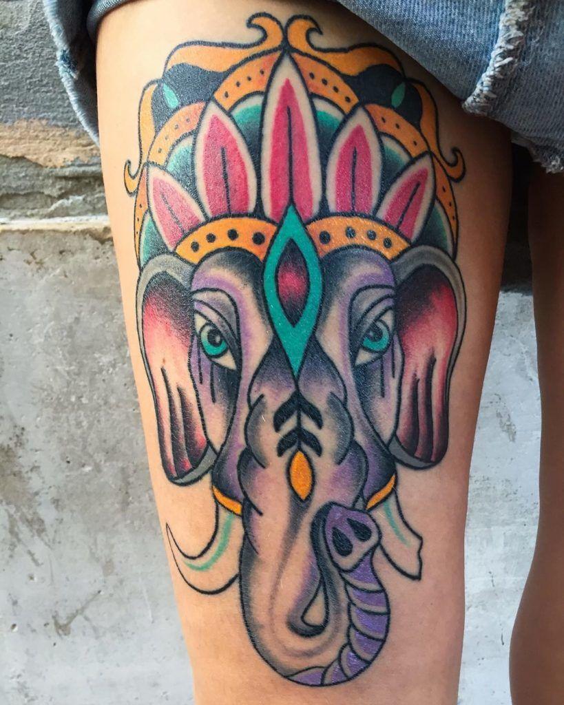 Elephant head tattoo ideas