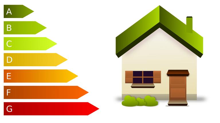 La eficiencia energética queda etiquetada según esta clasificación de menora mayorconsumo.