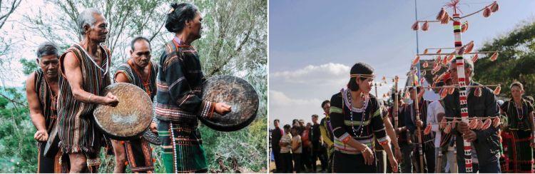Actuación de gongs de la etnia M´Nong y la fiesta Iun Jong del grupo Ma