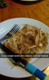 Tuna crepe with house mates