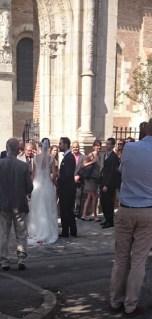 Stumbled upon a wedding at Saint Sernin <3