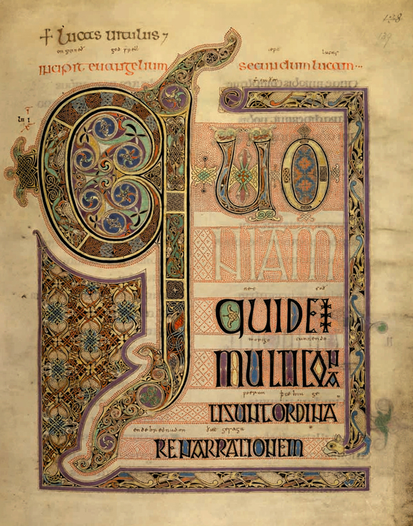 Lindesfarne Gospels at th British Library