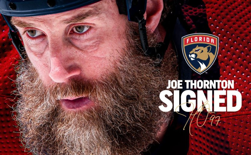 Joe Thornton's Chasing a Cup, and he's doing it in South Florida