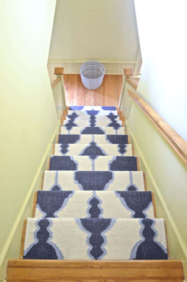 Diy Staircase Runner With Stair Rods