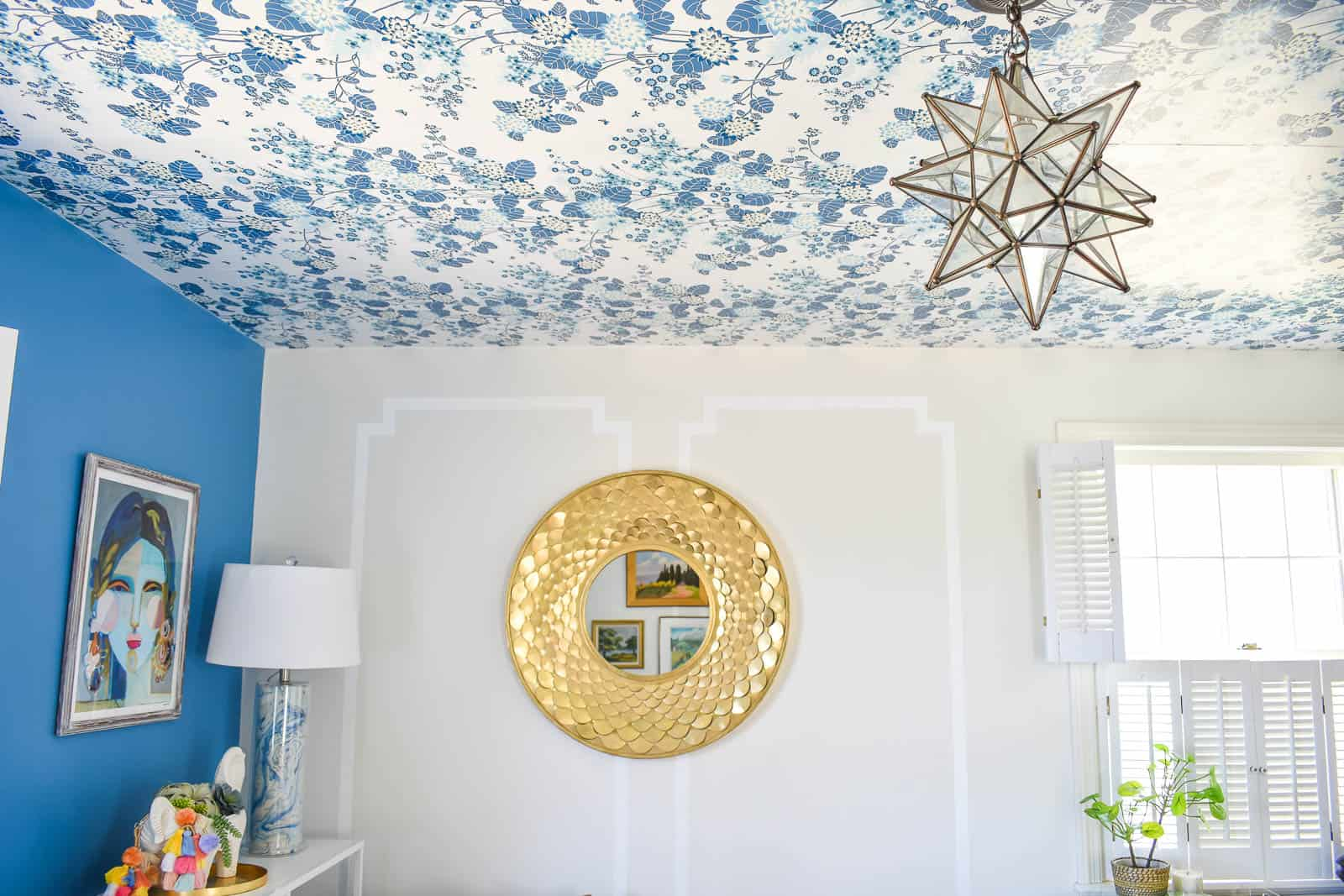 How To Make Your Own Rent Friendly Removable Wallpaper At Charlotte S House