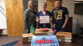 Controllers thank Canada for sending pizza; one of over 16 million sent to US air traffic controllers the week of Janaury 14th