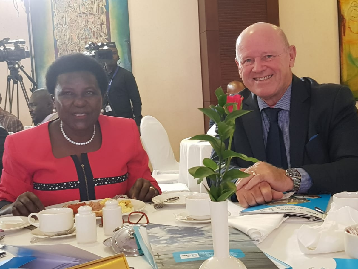 #SaintAnge's keynote address lights up #aviation meeting in #Kampala
