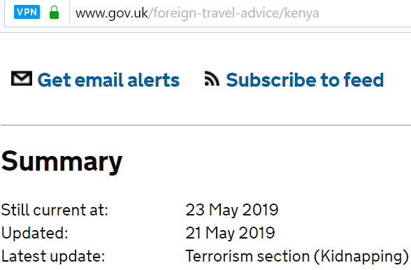 Is the British High Commission in Nairobi misleading the public?