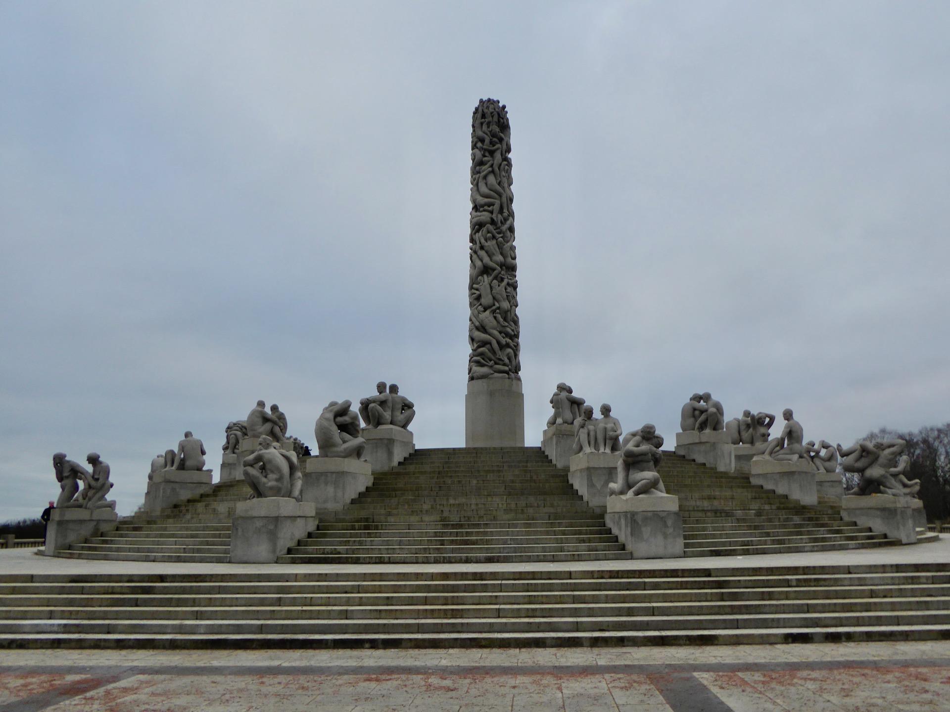 Oslo w dwa dni: rzeźby w parku Vigelanda